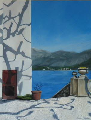 Villa del Balbianello n 3 Technique Mixte 50cmx65cm   2019